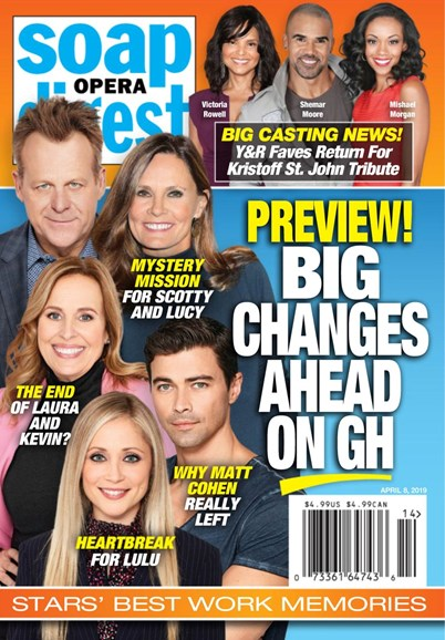 Soap Opera Digest Cover - 4/8/2019