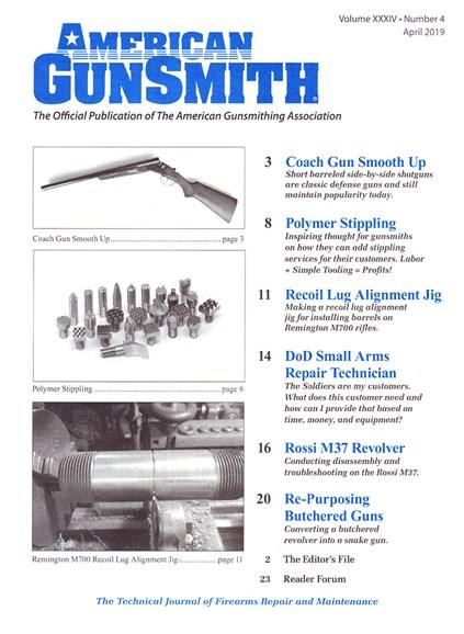 American Gunsmith Cover - 4/1/2019
