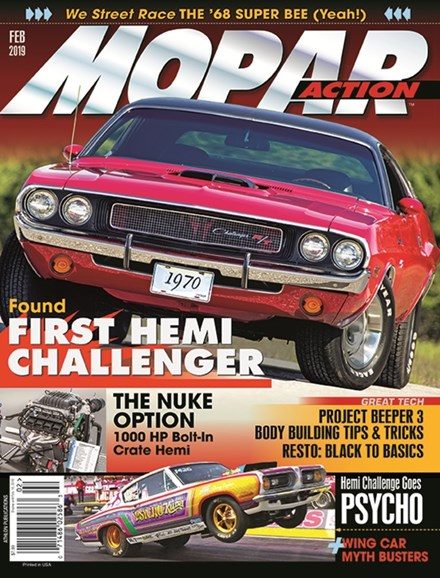 Mopar Action Cover - 2/1/2019