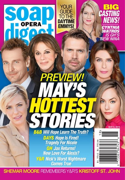 Soap Opera Digest Cover - 5/6/2019