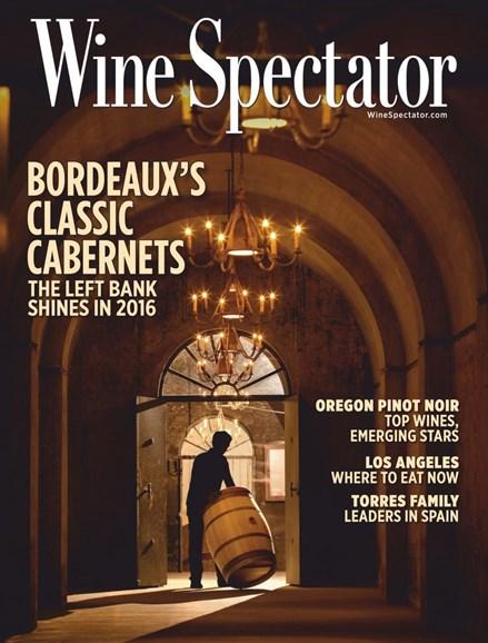 Wine Spectator Cover - 3/31/2019