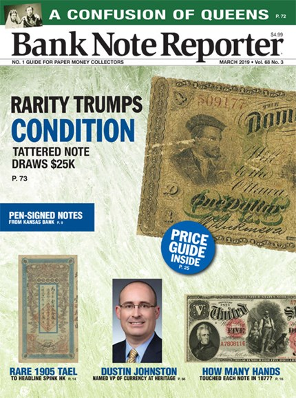 Bank Note Reporter Cover - 3/1/2019