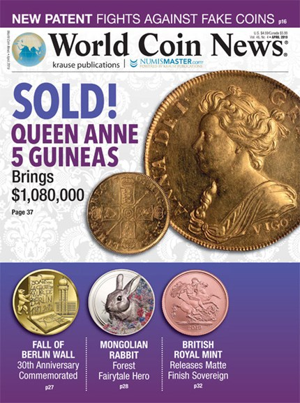 World Coin News Cover - 4/1/2019