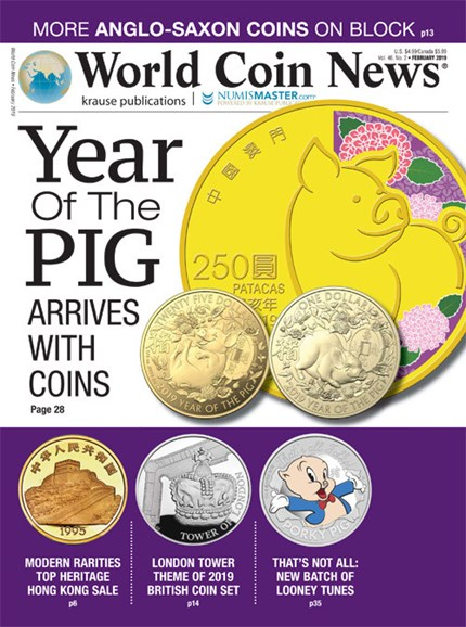 World Coin News Cover - 2/1/2019