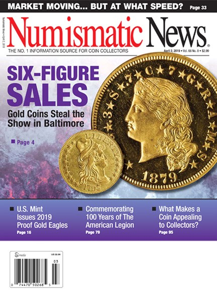 Numismatic News Cover - 4/2/2019