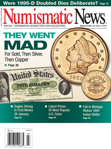 Numismatic News Cover - 2/12/2019