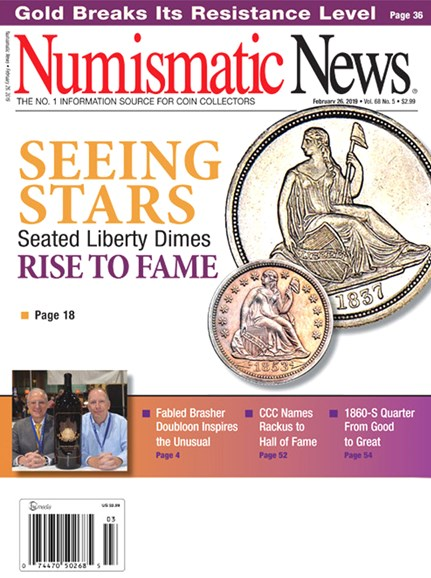 Numismatic News Cover - 2/26/2019