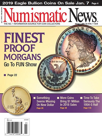 Numismatic News Cover - 1/1/2019