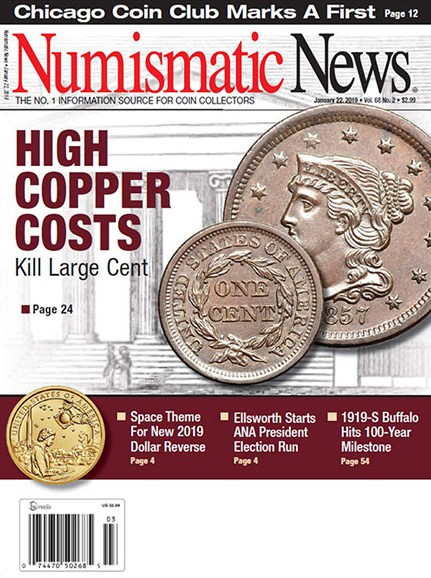 Numismatic News Cover - 1/22/2019