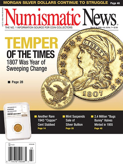 Numismatic News Cover - 3/19/2019