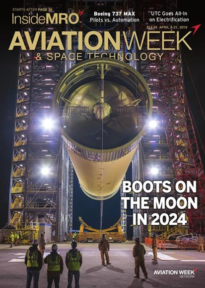 Aviation Week & Space Technology Cover - 4/8/2019