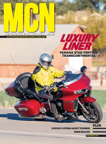 Motorcycle Consumer News Cover - 3/1/2019