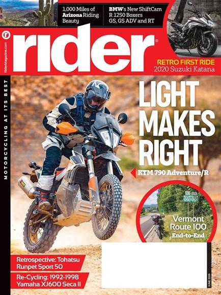 Rider Cover - 6/1/2019
