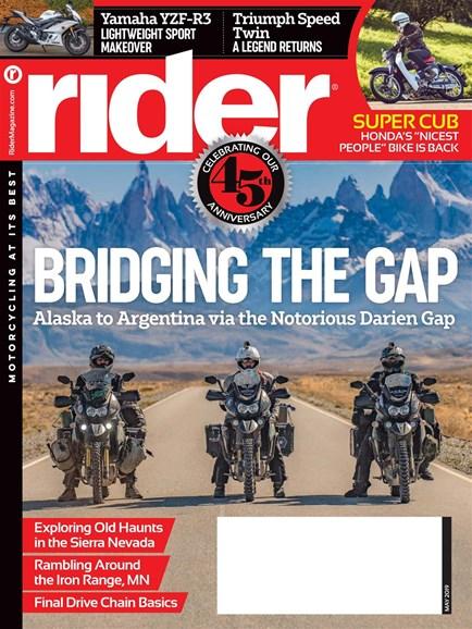 Rider Cover - 5/1/2019