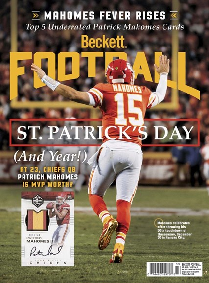 Beckett Football Cover - 3/1/2019
