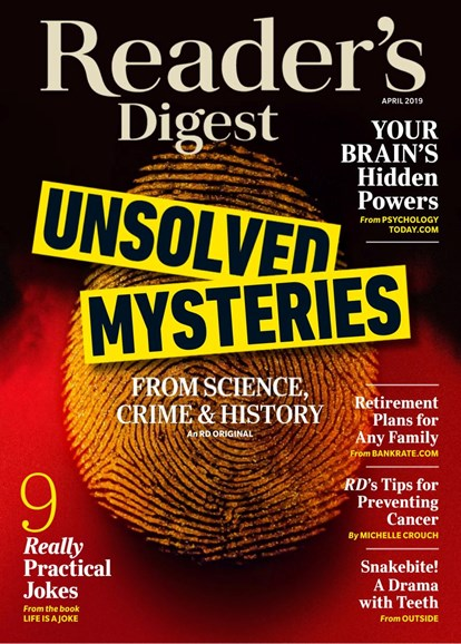 Reader's Digest Cover - 4/1/2019