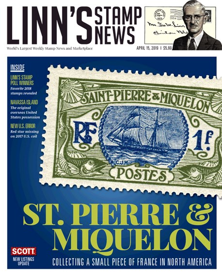 Linn's Stamp News Weekly Cover - 4/15/2019