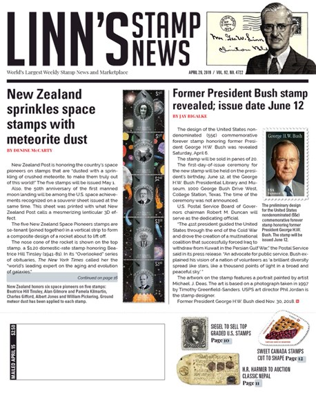 Linn's Stamp News Weekly Cover - 4/29/2019