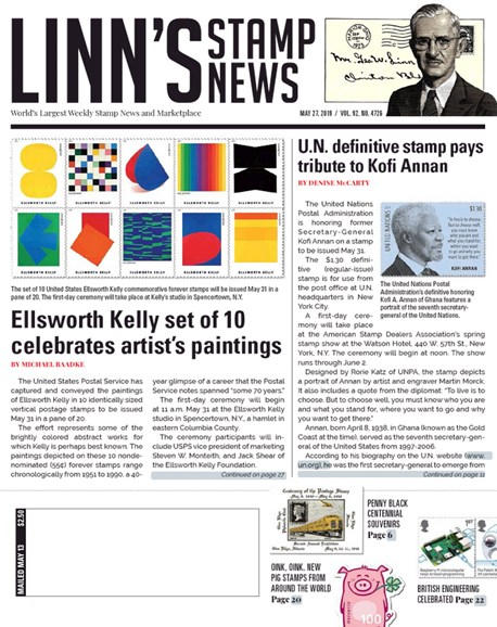 Linn's Stamp News Weekly Cover - 5/27/2019
