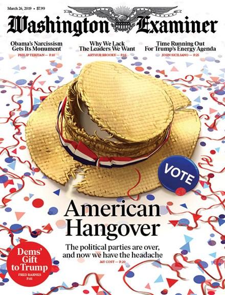 Washington Examiner Cover - 3/26/2019