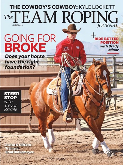 The Team Roping Journal Cover - 6/1/2019