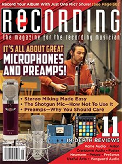 Recording Magazine Cover - 5/1/2019