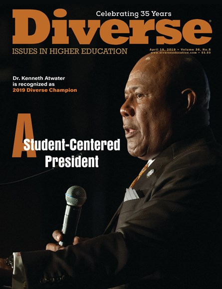 Diverse: Issues In Higher Education Cover - 4/18/2019