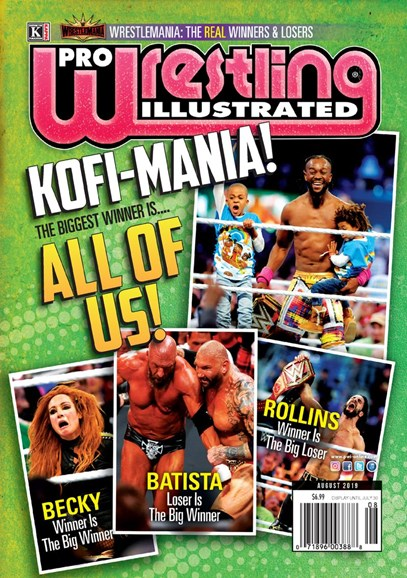 Pro Wrestling Illustrated Cover - 8/1/2019