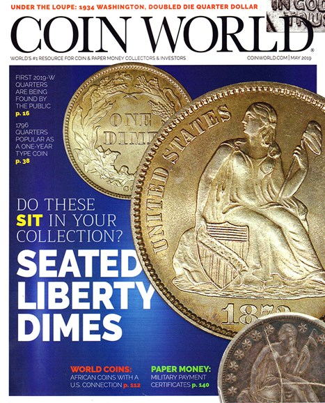 Coin World Monthly Cover - 5/1/2019