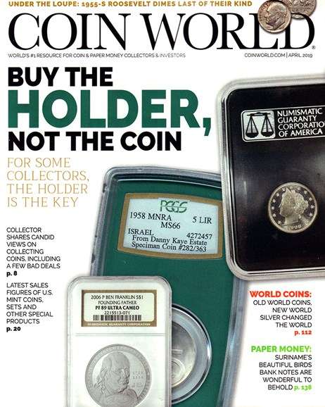 Coin World Weekly Cover - 4/1/2019
