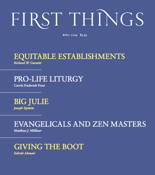 First Things Cover - 4/1/2019