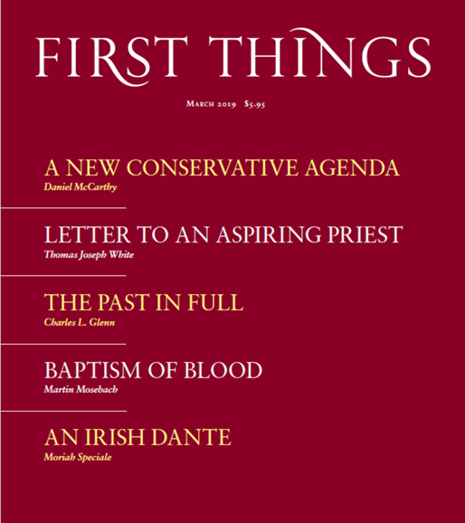 First Things Cover - 3/1/2019