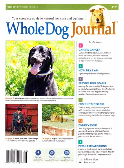 Whole Dog Journal Cover - 6/1/2019