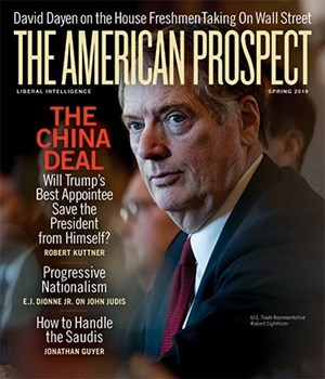 The American Prospect Magazine | 4/2019 Cover
