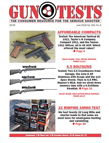Gun Tests Cover - 6/1/2019