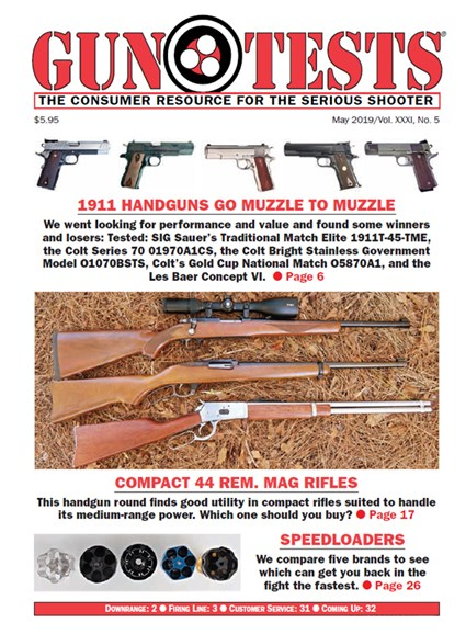 Gun Tests Cover - 5/1/2019