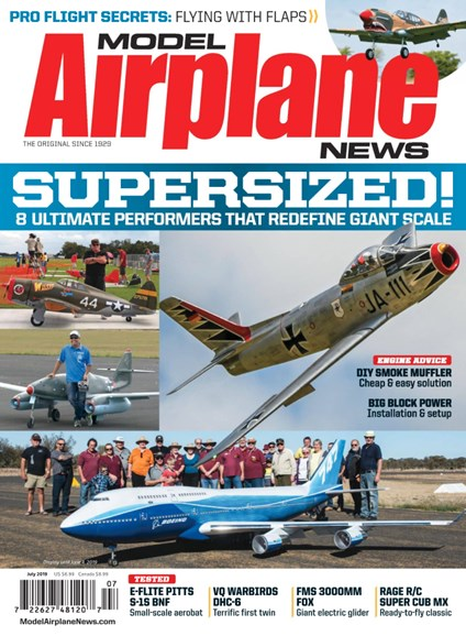 Model Airplane News Cover - 7/1/2019