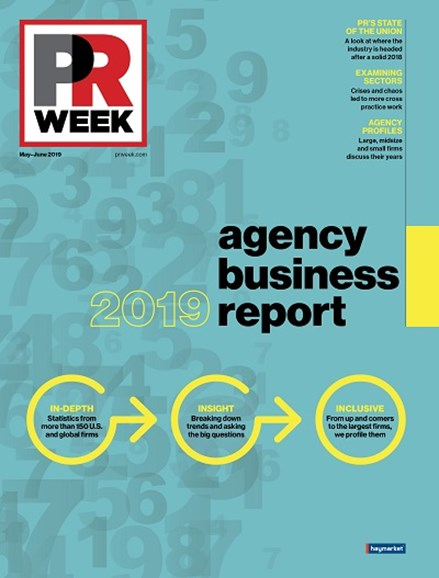 PRWeek Cover - 5/1/2019