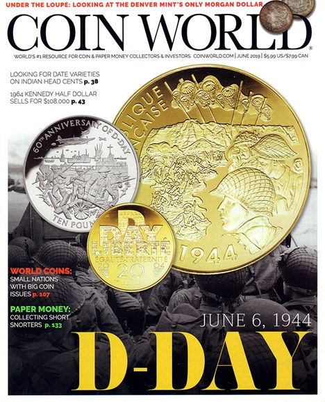 Coin World Monthly Cover - 6/1/2019