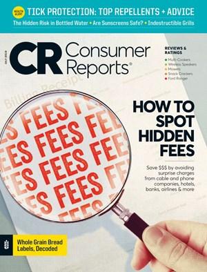 Consumer Reports Magazine | 7/2019 Cover