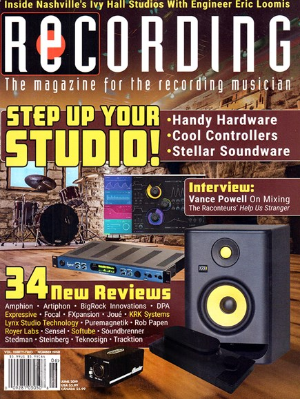 Recording Magazine Cover - 6/1/2019