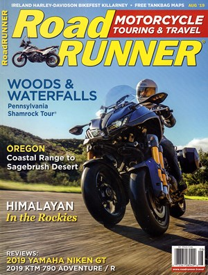 Road RUNNER Motorcycle and Touring Magazine | 8/2019 Cover