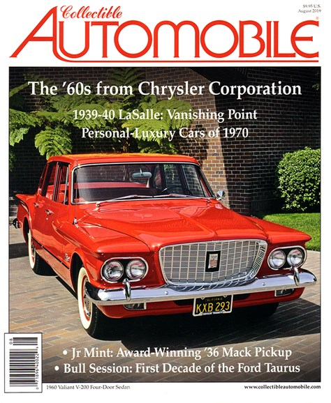 Collectible Automobile Cover - 8/1/2019