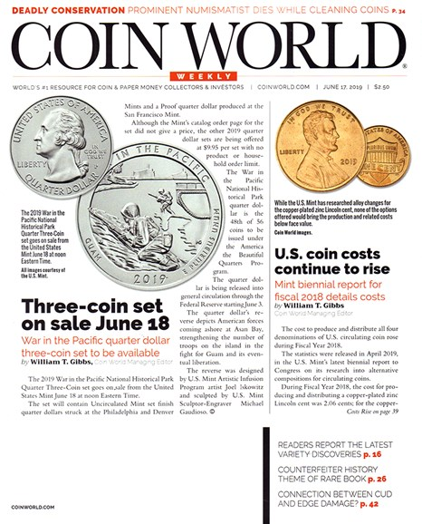 Coin World Weekly Cover - 6/17/2019
