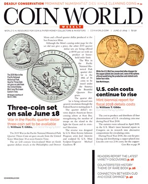 Coin World Magazine | 6/17/2019 Cover