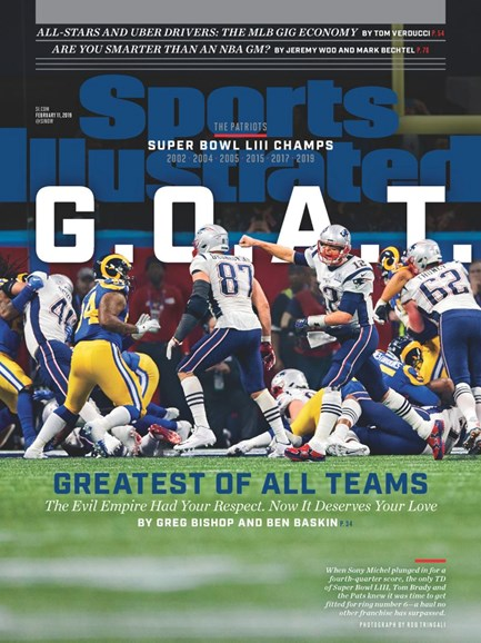Sports Illustrated Cover - 2/11/2019