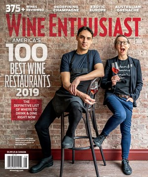 Wine Enthusiast Magazine | 8/2019 Cover