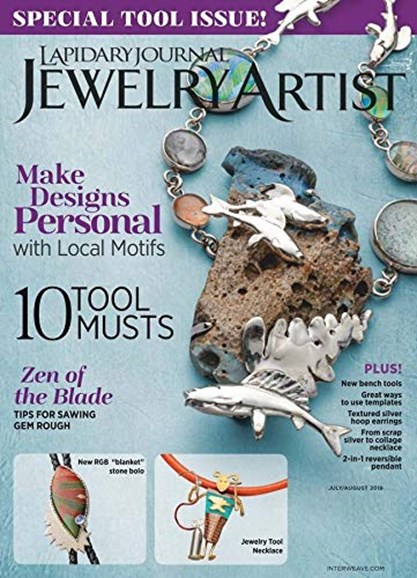 Lapidary Journal Jewelry Artist Cover - 7/1/2019