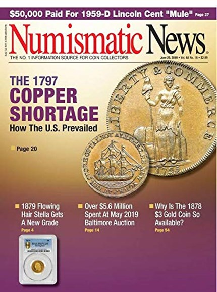 Numismatic News Cover - 6/25/2019