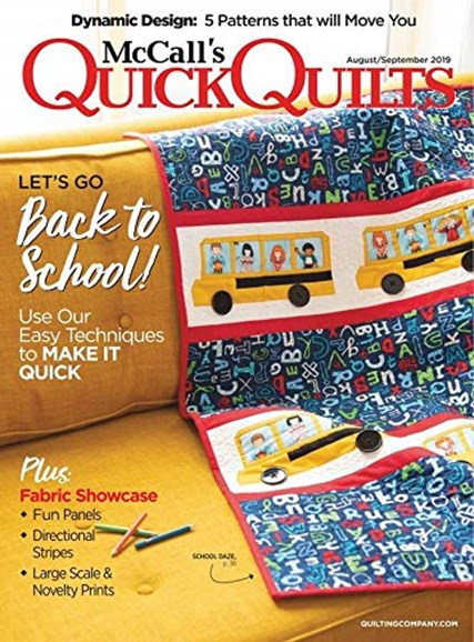 McCall's Quick Quilts Cover - 8/1/2019